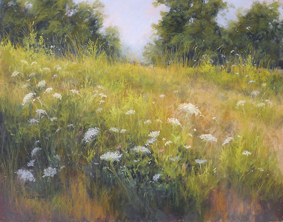 """And the Queen Anne's Lace by Kathy McDonnell Pastel ~ 16"""" x 20"""""""