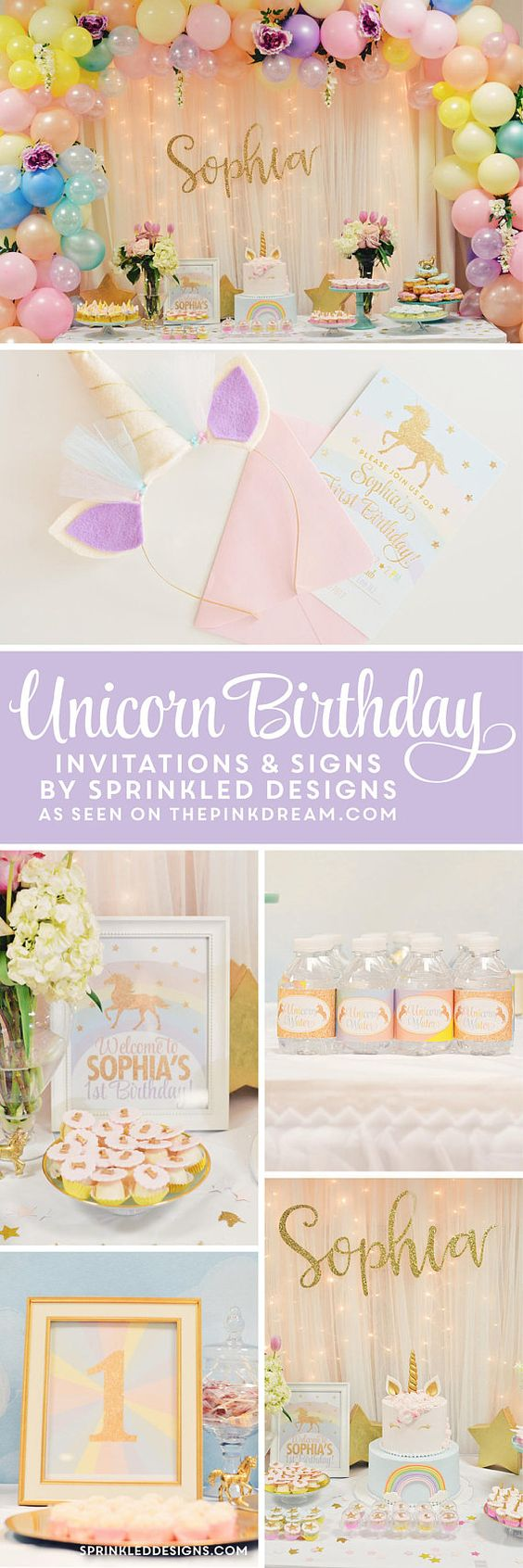Unicorn Birthday Invitation, Unicorn Invitation, Unicorn Party ...