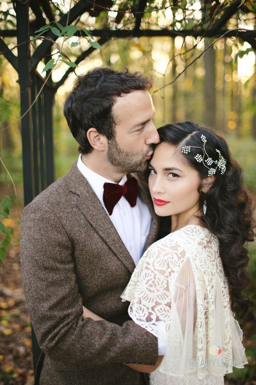 vintage bridal ♥ hair by holly burnham, makeup by caitlyn