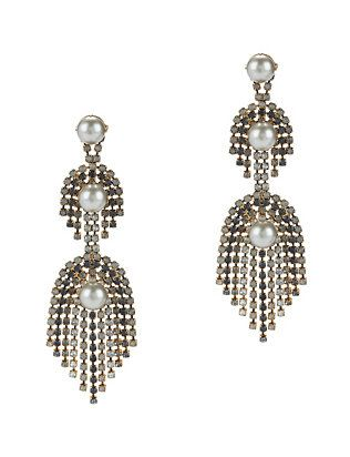 Pearlie Earrings in Metallic Gold Elizabeth Cole fpIQ20FLfg
