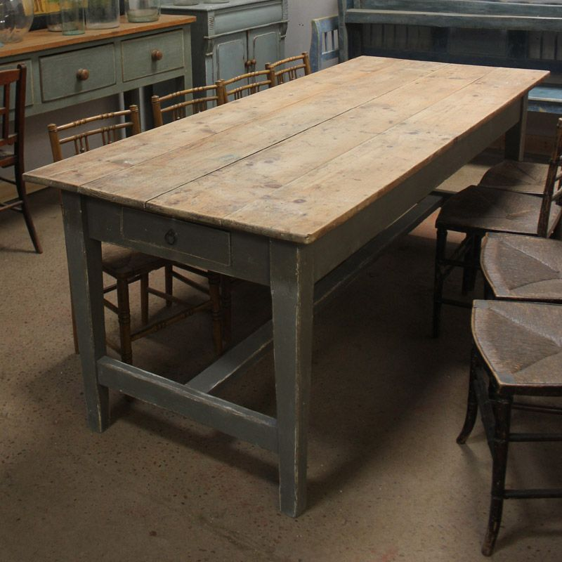 Antique Georgian Pine Farmhouse Table Antique Kitchen Table