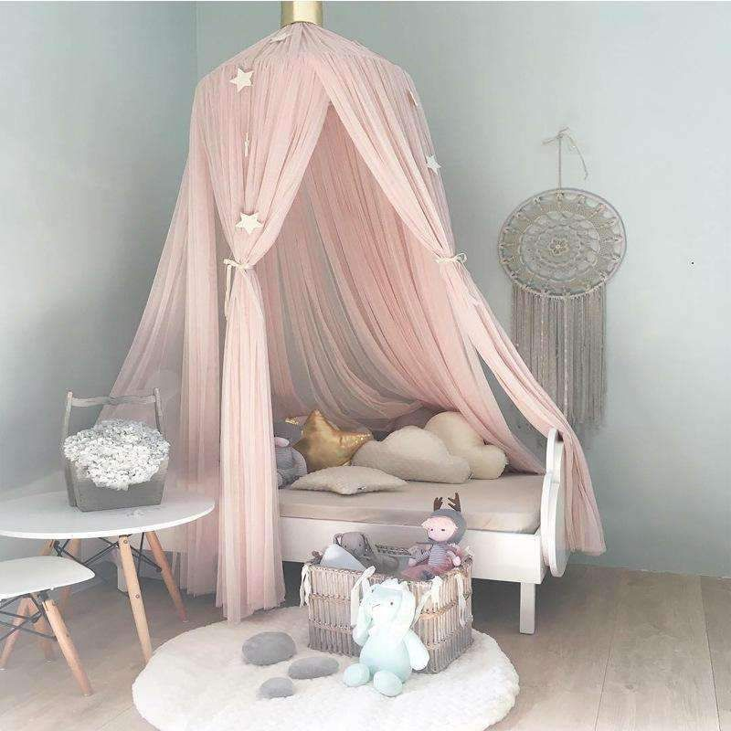 Baby Bedding Round Dome Bed Canopy Kids Play Tent Hanging Mosquito Net Curtain For Baby Kids Reading Playing Sleeping Room Decoration Color : Dark Blue