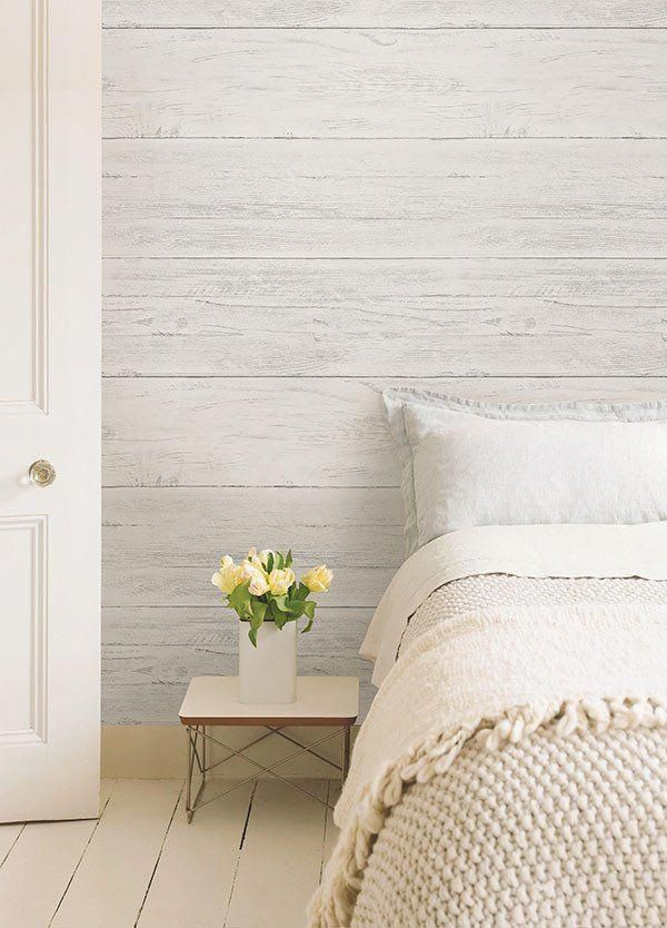 Shiplap Peel and Stick Wallpaper in 2020 Bedroom wall
