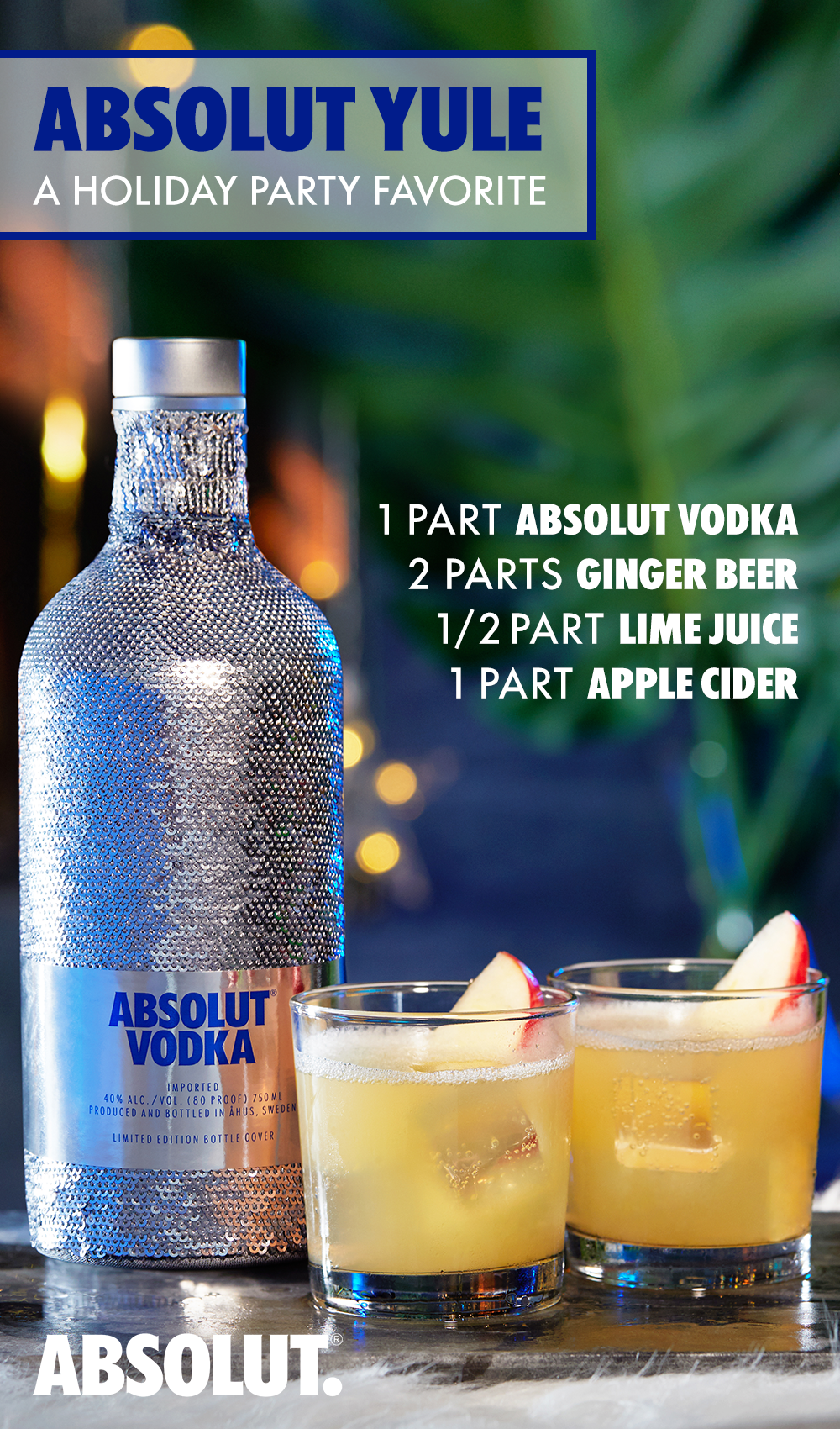 It S The Most Wonderful Time Of The Year For Parties Show Your Friends And Family How To Bring The Fun With The Absol Festive Drinks Fun Drinks Holiday Drinks