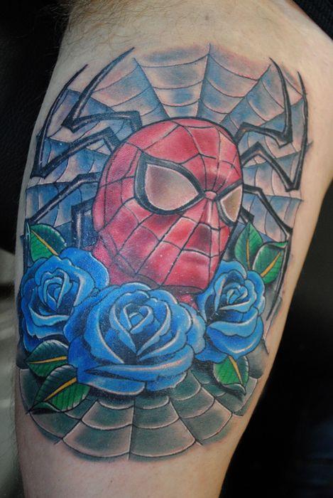 0c42e03b6 Spider-Man | tattoo ideas | Tattoo artists, Rose tattoos, Tattoos