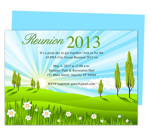 Brook Family or event Reunion Party Invitation Templates Use with – Reunion Party Invitations