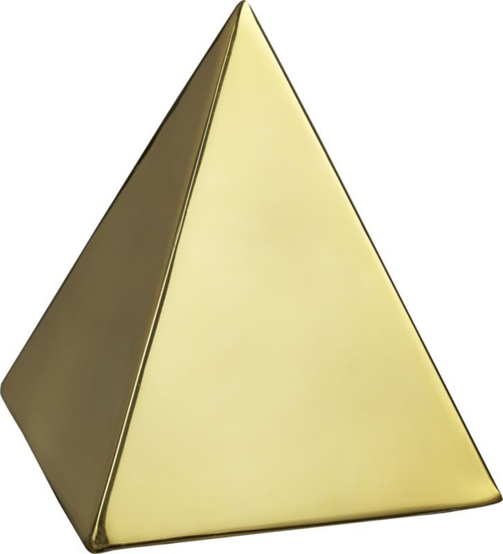 CB2 Tut Gold Pyramid Object