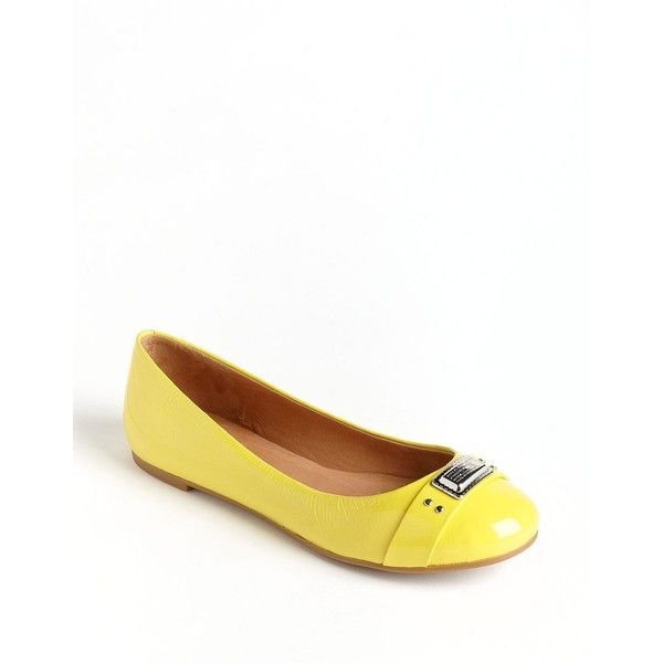 MARC BY MARC JACOBS Patent Leather Logo Ballet Flats by None, via Polyvore