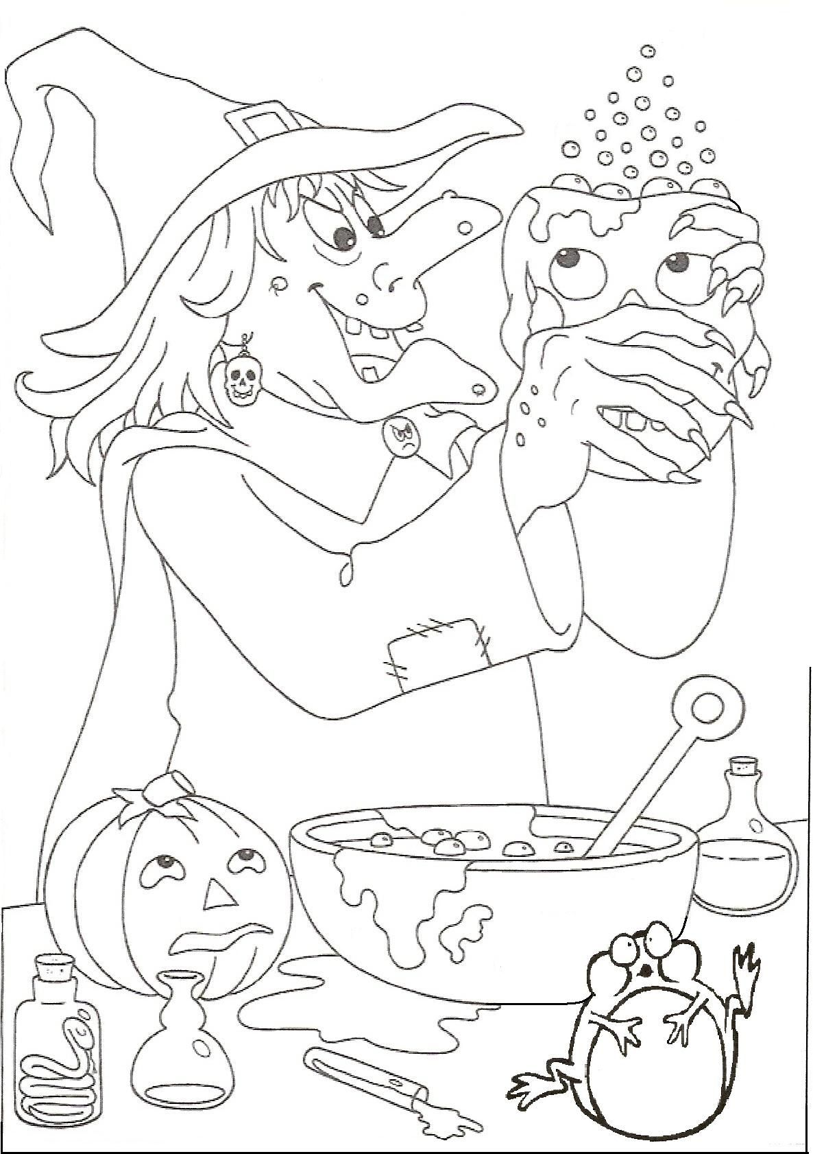 Hexenküche  Halloween coloring pictures, Halloween coloring