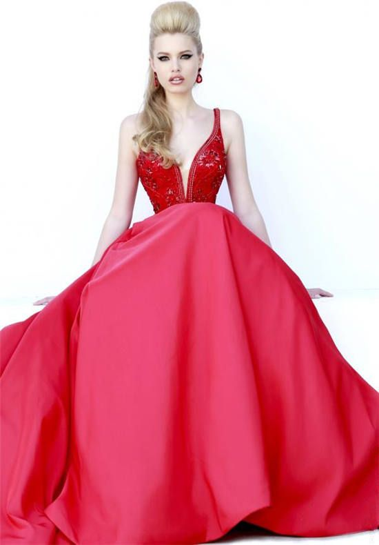 Sherri Hill 32108 Red Beaded Ball Gown Prom Dresses 2015 | ball gown ...