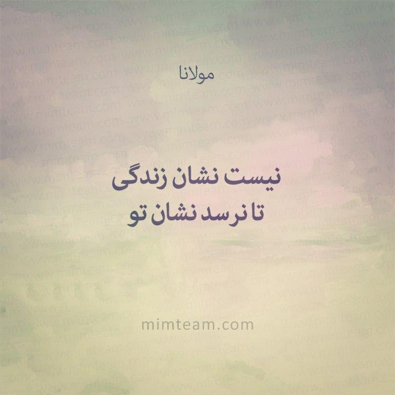 نیست نشان زندگی تا نرسد نشان تو مولاناا Persian Quotes Picture Writing Prompts Literary Quotes
