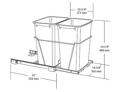 Image Result For Width Of Trash Pull Out Cabinet