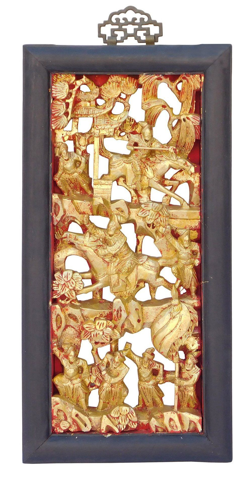 Chinese Vintage Restored Warfield Opera Scenery Wooden Panel Wall ...