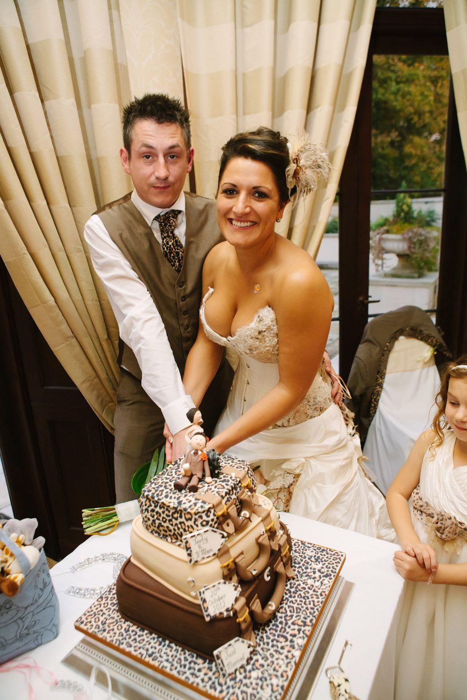 Wild Safari Park Wedding With Animal Print Fancy Dress Damon Tooty
