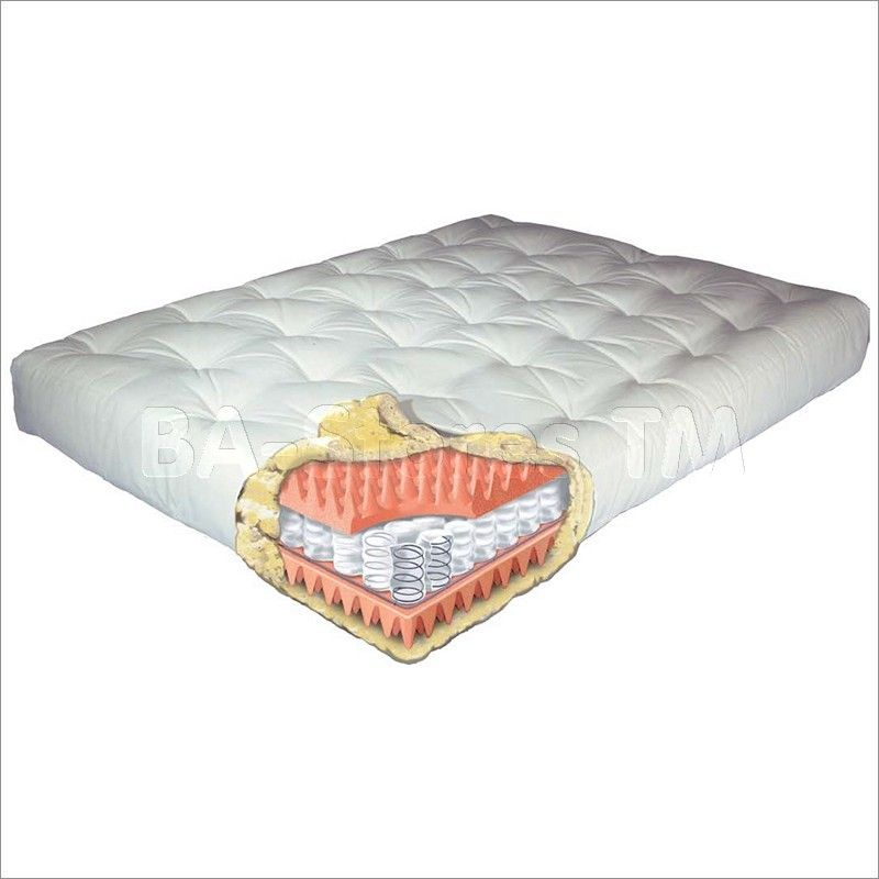 10 Euro Coil Futon Mattress With Pocketed Support