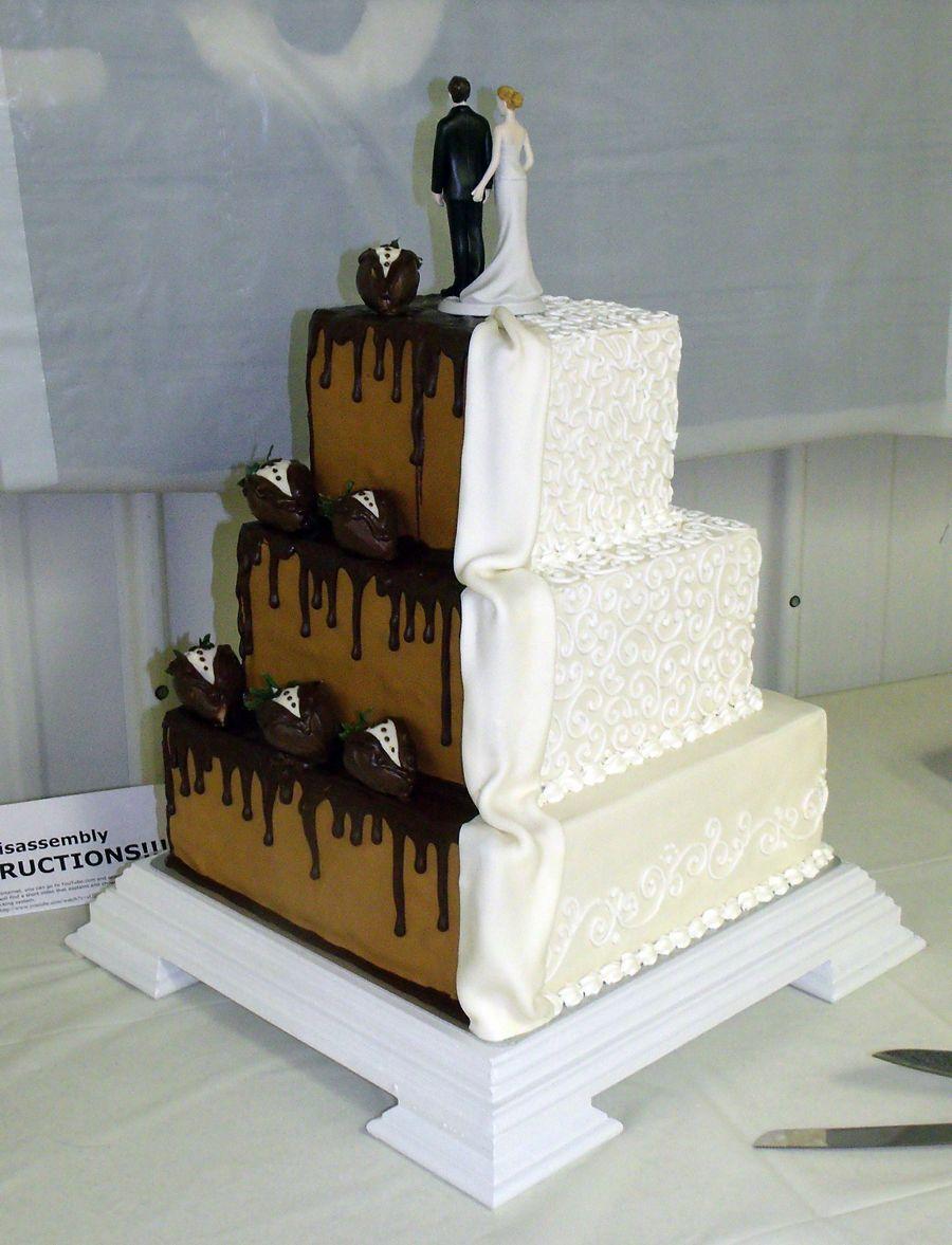 Grooms Wedding Cake Cake Half Half