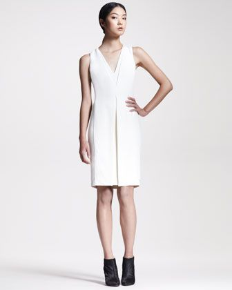 Inverted Crepe Sheath Dress by Alexander Wang at Neiman Marcus.
