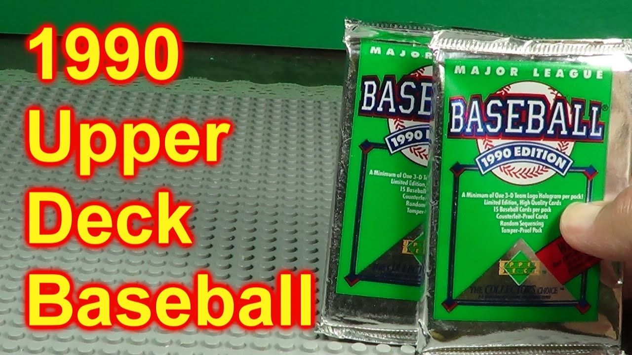 1990 upper deck baseball opening 2 packs of cards who did