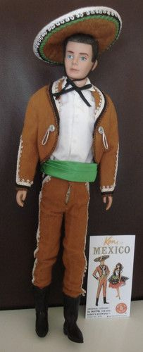 Original Vintage Ken In Mexico Outfit Complete With Pamphlet Ebay Outfits For Mexico Barbie Fashion Barbie Celebrity