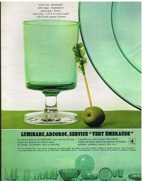 Publicité Advertising 1967 La Vaisselle en verre trempé