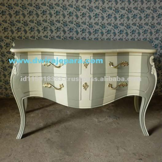 Jepara furniture commode chest shabby chic color from for Commode style shabby chic