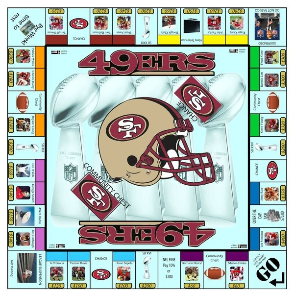 Sf 49ers Monopoly Football Forever 49ers Sf 49ers San Francisco 49ers Football
