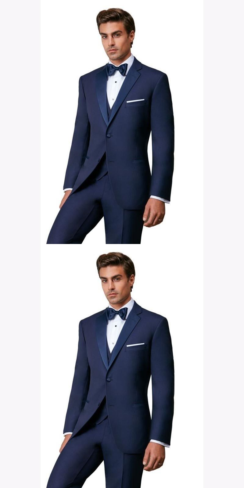 ce88f64c877 New latest coat pant designs Blue Mens Dinner Prom Suits costume homme  Groomsmen Wedding Blazer Suits (Jacket+Pants+Vest+Tie)