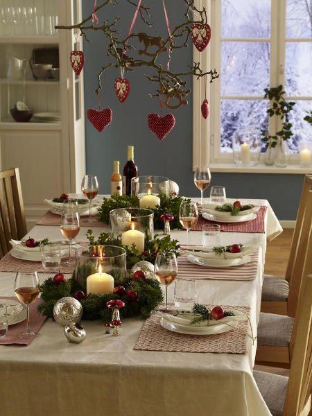 Winter-Tischdeko für kuschelige Geselligkeit #rustikaleweihnachtentischdeko