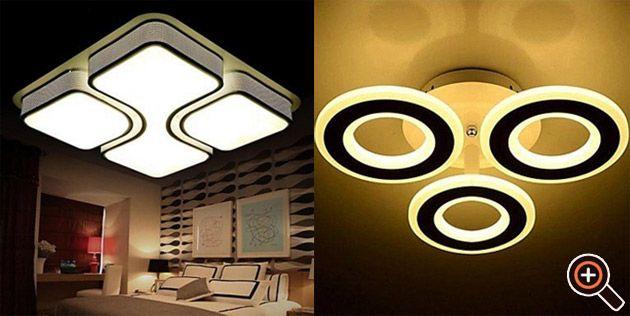 deckenleuchten led moderne wohnzimmer schlafzimmer k che flur bad. Black Bedroom Furniture Sets. Home Design Ideas