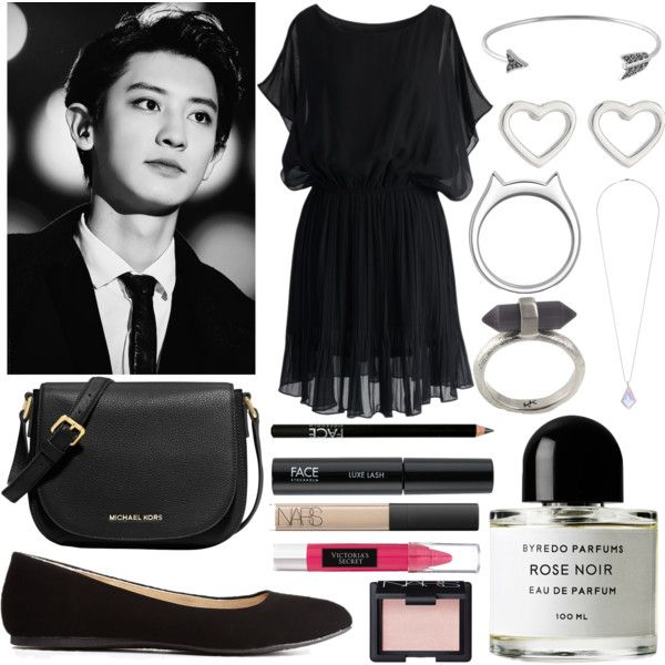 Date with Chanyeol by foreverxdirectioner on Polyvore featuring polyvore fashion style Chicwish Charlotte Russe MICHAEL Michael Kors House of Harlow 1960 kiz&Co. Miss Selfridge Marc by Marc Jacobs Karen Kane FACE Stockholm NARS Cosmetics Beauty Rush Byredo
