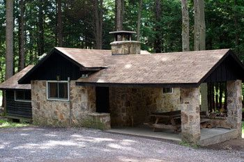 This cozy stone cabin is rustic cabin 5 at parker dam for Cozy cabins pa