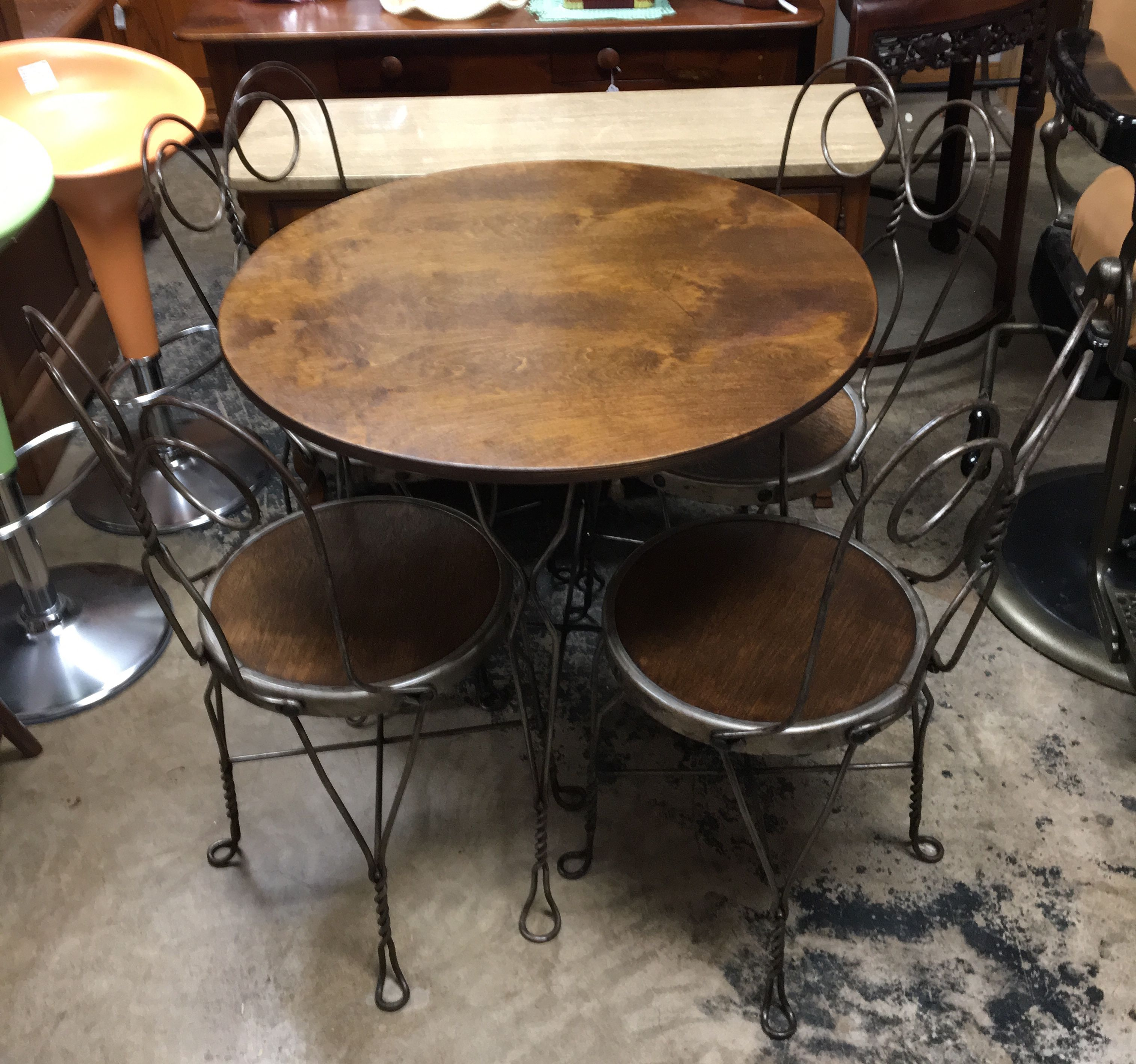 twisted wire ice cream parlor table 4 chairs antique and vintage rh pinterest com