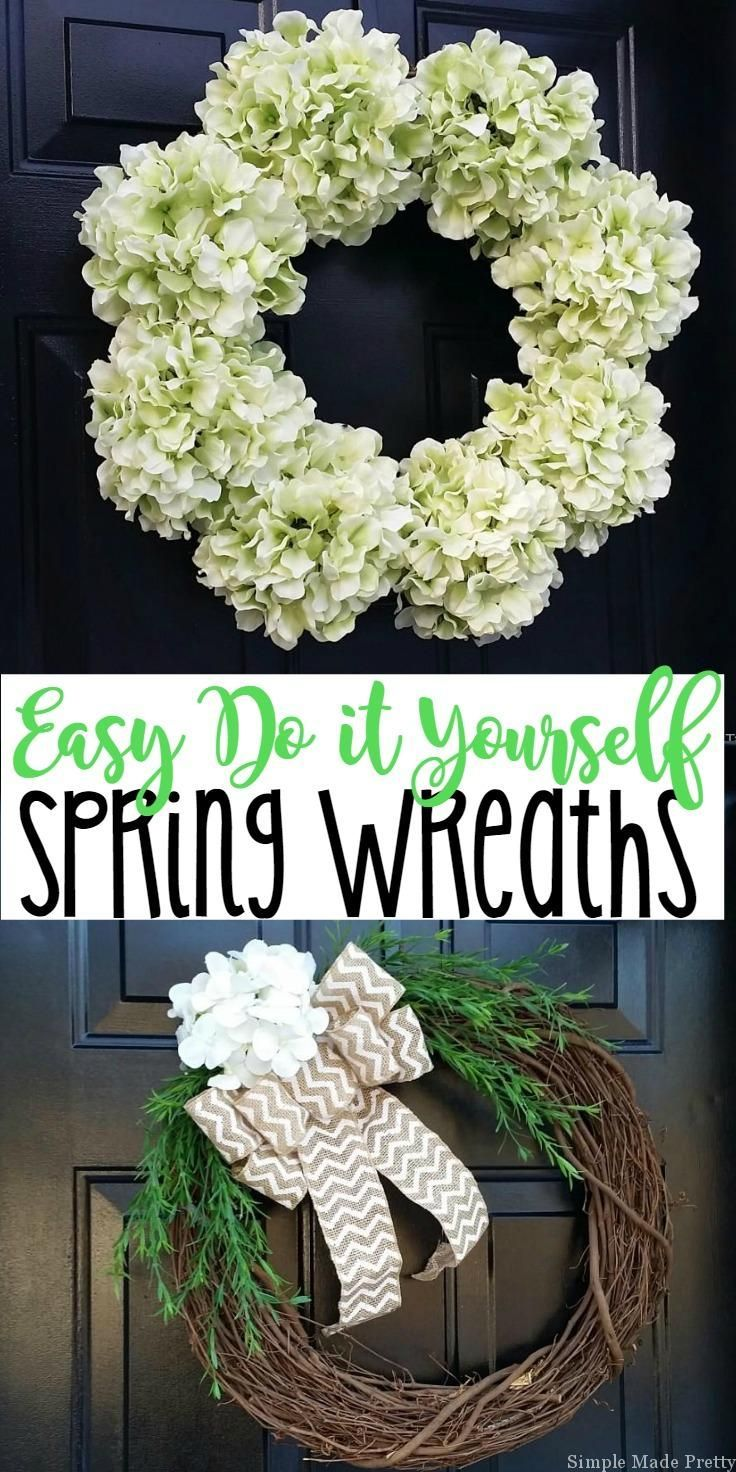 i am sharing this diy 10 minute spring wreaths tutorial for easy spring decor you can use indoors and outdoors these wreaths are inexpensive to make and