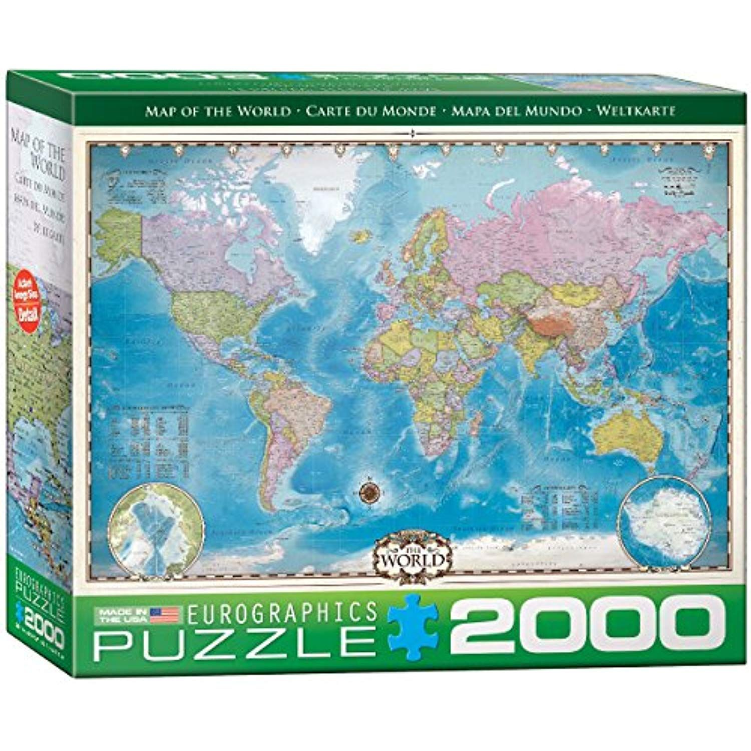Eurographics Map Of The World Puzzle 2000 Piece You Can Get