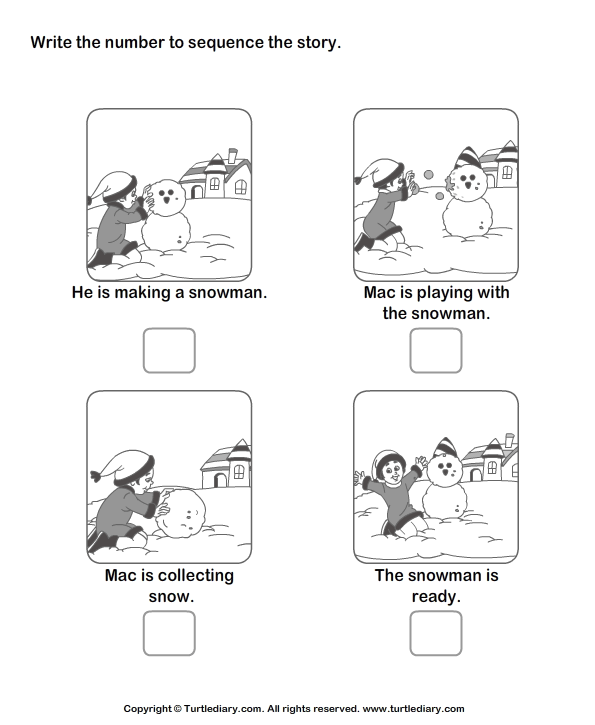 Picture Sequence Worksheet 18 eslefl Worksheets kindergarten – Picture Sequencing Worksheets