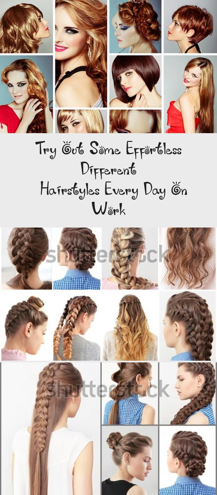 Try Out Some Effortless Different Hairstyles Every Day On Work 7 Easy Everyday Hairstyles For Each Day O In 2020 Hair Styles Everyday Hairstyles Different Hairstyles