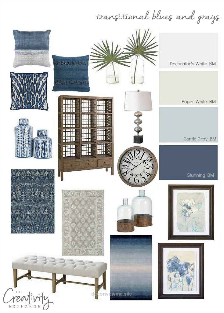 Unbelievable Layering a home in transitional blues and grays is a beautiful way to ground and create a neutral design base for switching out pops of colors. The post Layering a home in transitiona ..