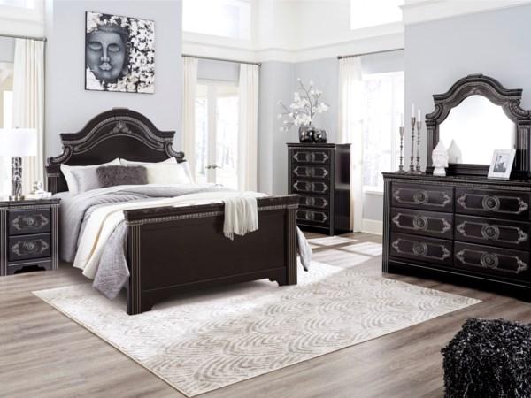 Sleigh Bed Upholstered Bed Headboard Footboard Bed Queen Bedroom Groups In Twin Cities Minneapolis St Bedroom Set Dark Brown Bedrooms Bedroom Sets Queen