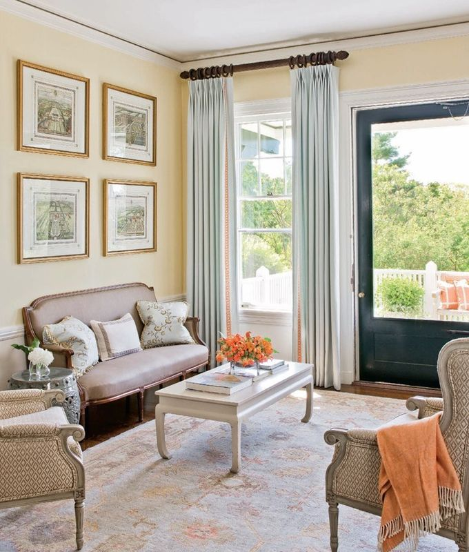 Aqua Drapes With Coral Trim Favorite Places And Spaces Pinterest Color Combos House Of