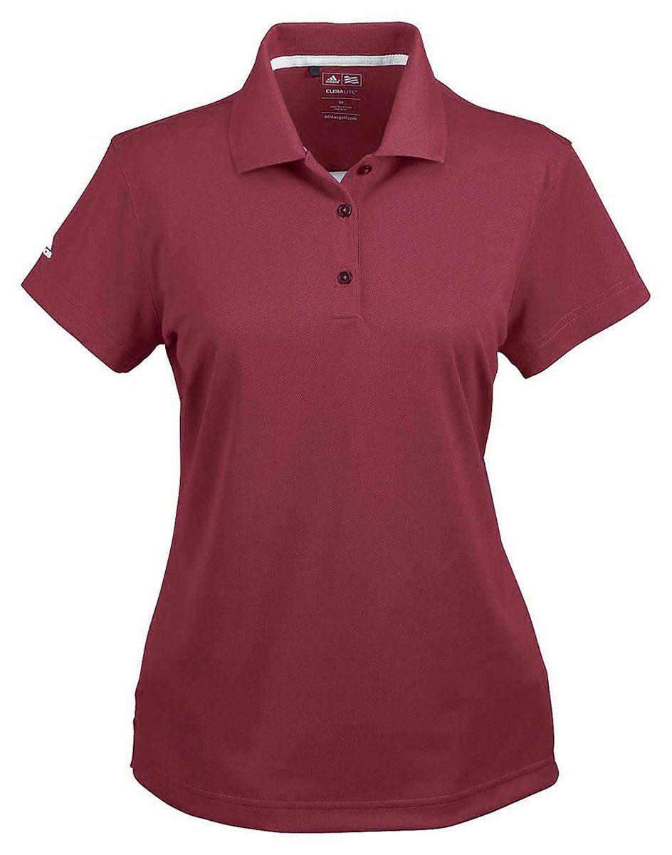 77b7bef1c0efa6 Women Golf Clothing - Adidas Ladies Climalite Basic Polo Shirt Cardinal  XXLarge