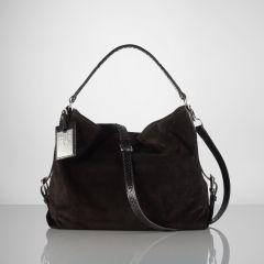 Suede-Python Feed Bag - Ralph Lauren Ralph Lauren Handbags - RalphLauren.com