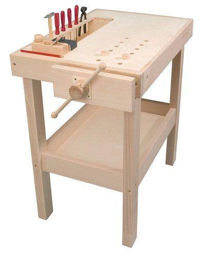 PEBARO Holz-Werkbank massiv | Werkbank, Holz, Holzspielzeug