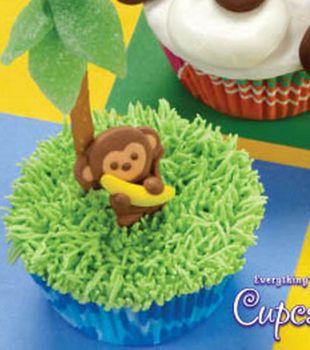 Monkey Business Cupcake