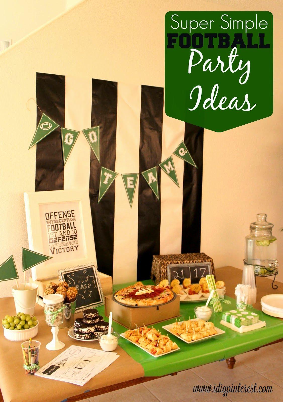 It Works Wrap Party Invitation Elegant Super Simple Football Party Ideas I Dig Pinterest Football Party Football Party Food Superbowl Party Decorations