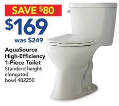 Aquasource High Efficiency 1 Piece Toilet From Lowe S 169 00 32 Off Stuff Pinterest And Toronto