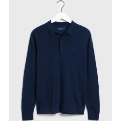 Photo of Gant Waschbarer Merino Rugger-Sweater (Blau) GantGant