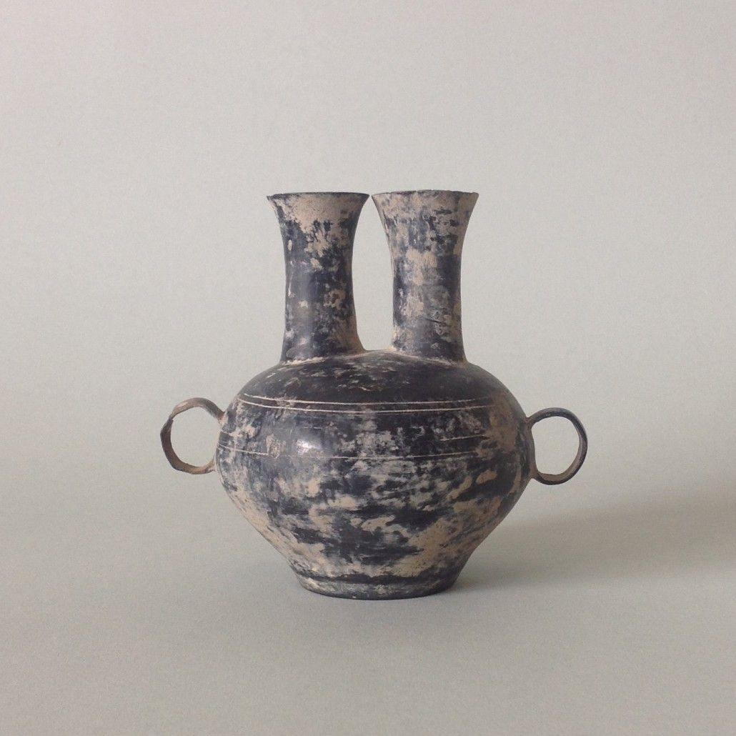 A rare neolithic black pottery jar longshan culture 3rd a rare neolithic black pottery jar longshan culture 3rd millennium bc the very thinly potted conjoined globular body surmounted by two long necks each reviewsmspy
