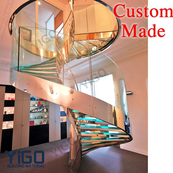Best Round Stair Case Modern Stainless Steel Curved Stair 400 x 300