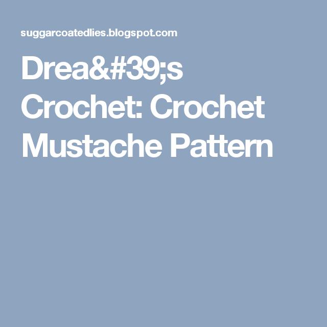 Drea\'s Crochet: Crochet Mustache Pattern   Dog sweater pattern ...