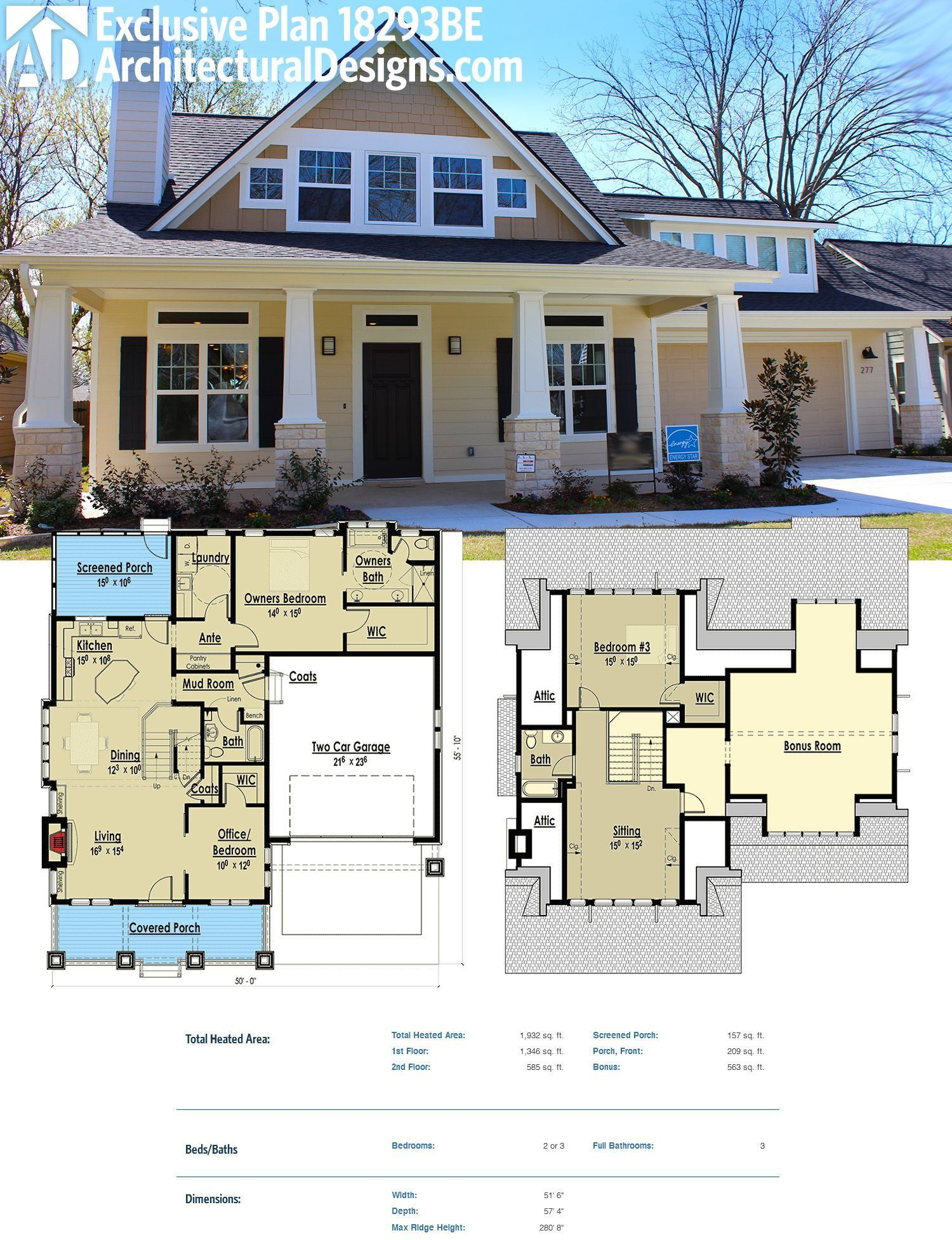 House Floor Plans Without Garage In 2020 Small Farmhouse Plans Craftsman House Plans Farmhouse Plans